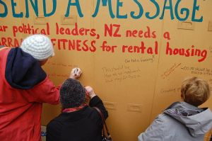 Healthy Homes protest
